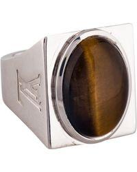 Louis Vuitton - Tiger's Eye Ring Silver - Lyst