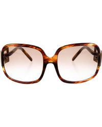 Roger Vivier - Gradient Oversized Sunglasses Brown - Lyst