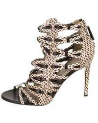 Jason Wu - Snakeskin Caged Sandals Tan - Lyst