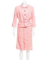 Marc Jacobs - Belted Abstract Skirt Suit - Lyst