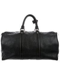 Louis Vuitton - Cowhide Keepall 50 Black - Lyst
