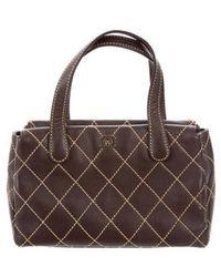 08c7567f666e Lyst - Chanel Wool Surpique Tote Wool in Metallic