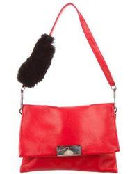 3.1 Phillip Lim - Fur-trimmed Leather Bag - Lyst