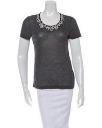 Jason Wu - Appliqué Short Sleeve T-shirt Grey - Lyst