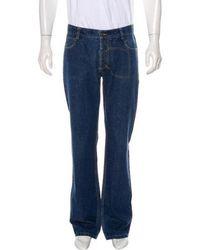 John Galliano - Five-pocket Straight-leg Jeans Blue - Lyst