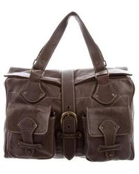 Sandro - Leather Handle Bag Brown - Lyst