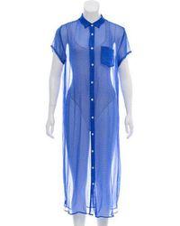 Steven Alan - Printed Midi Dress - Lyst