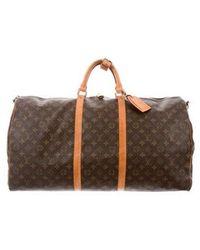 Louis Vuitton - Monogram Keepall Bandoulière 60 Brown - Lyst
