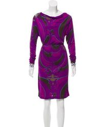 Emilio Pucci - Printed Knee-length Dress - Lyst