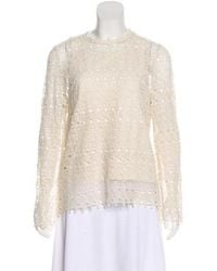 R/R Studio - Lace Long Sleeve Top - Lyst