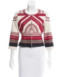 Sachin & Babi - Embroidered Collarless Jacket - Lyst