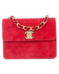 3ae363d55963b2 Lyst - Chanel Vintage Classic Mini Flap Bag Gold in Metallic