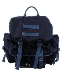 MZ Wallace - Leather-trimmed Backpack Navy - Lyst