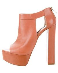 Ruthie Davis - Campbell Platform Booties W/ Tags Brown - Lyst