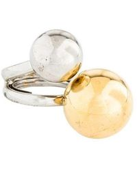 Kenneth Jay Lane - Two-tone Ball Ring Silver - Lyst