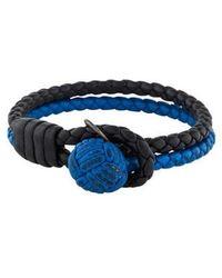 Bottega Veneta - Two-tone Intrecciato Leather Knot Bracelet - Lyst