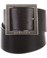 BVLGARI - Leather Waist Belt Black - Lyst