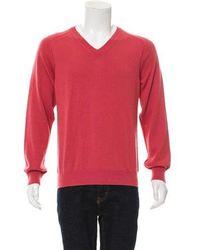 Louis Vuitton - Cashmere-blend V-neck Sweater Coral - Lyst