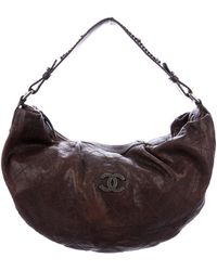 Chanel - Outdoor Ligne Large Hobo Brown - Lyst