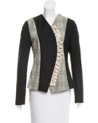 Proenza Schouler - Snakeskin-accented Fitted Jacket W/ Tags - Lyst
