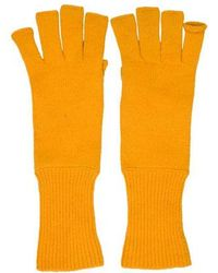 Marc Jacobs - Cashmere Fingerless Gloves Yellow - Lyst