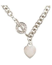Tiffany & Co. - Heart Tag Toggle Necklace Silver - Lyst