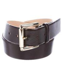 MICHAEL Michael Kors - Michael Kors Leather Buckle Belt - Lyst