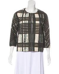 Vera Wang - Printed Collarless Jacket - Lyst