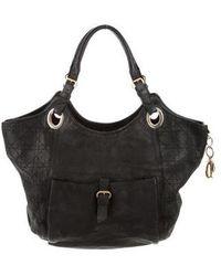 Dior - Leather Handle Bag Black - Lyst
