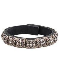 Chrome Hearts - Zero Leather Bracelet Silver - Lyst