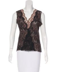 Loyd/Ford - Sleeveless Lace Top Black - Lyst