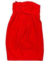 Vera Wang Lavender - Linen Strapless Dress W/ Tags - Lyst