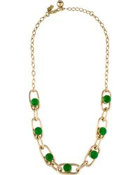 Kate Spade - Crystal Chain Necklace Gold - Lyst
