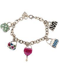 Judith Leiber - Crystal Charm Bracelet Silver - Lyst