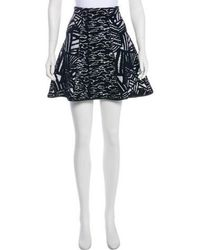 Issa - Devoré Mini Skirt Black - Lyst