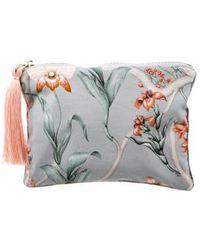 Johanna Ortiz - Floral Print Cosmetic Bag Blue - Lyst