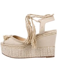 Paul Andrew - Braided Wedge Sandals Tan - Lyst