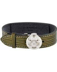 Louis Vuitton - Wish Leather Bracelet Green - Lyst