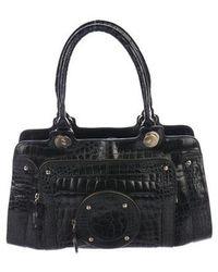 36185ae2b347 Roger Vivier - Crocodile Zip Shoulder Bag Black - Lyst
