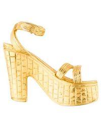Ferragamo - Shoe Brooch Gold - Lyst