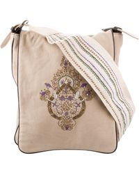 Dorothee Schumacher - Embroidered Canvas Messenger Bag Tan - Lyst