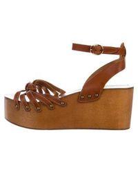 Étoile Isabel Marant - Leather Platform Sandals Cognac - Lyst