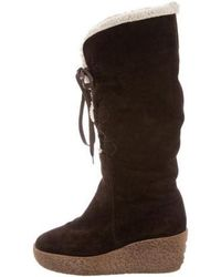 Kors by Michael Kors - Kors By Michael Suede Wedge Boots - Lyst