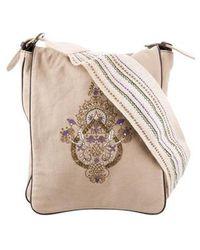 Dorothee Schumacher - Embroidered Canvas Messenger Bag Tan - Lyst