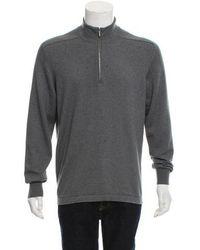 Loro Piana - Half-zip Cashmere-blend Sweater Grey - Lyst