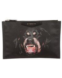 Givenchy - Antigona Rottweiler Pouch Black - Lyst