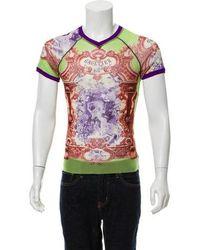 Jean Paul Gaultier - V-neck Graphic Shirt - Lyst