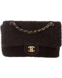 80c44a286b4b Lyst - Chanel Vintage Medium Diana Single Flap Bag Black in Metallic