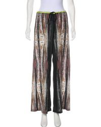 Clover Canyon - Printed Wide-leg Pants - Lyst