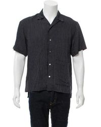 Opening Ceremony - Striped Short-sleeve Shirt Navy - Lyst